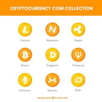 Коллекция криптовалютных монет