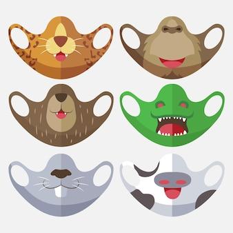 かわいい動物生地フェイスマスク集