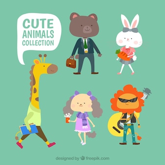 かわいい動物の服のコレクション