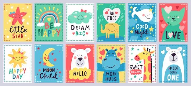 Коллекция милых детских плакатов