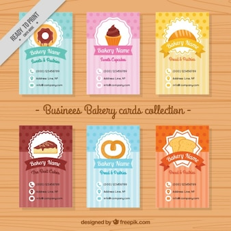 Collection of cute bakery menu template