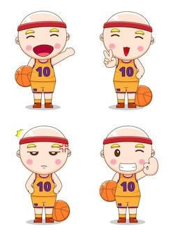 다른 스타일으로 귀여운 농구 선수의 컬렉션