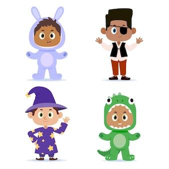 Коллекция милых мультяшных карнавальных детей