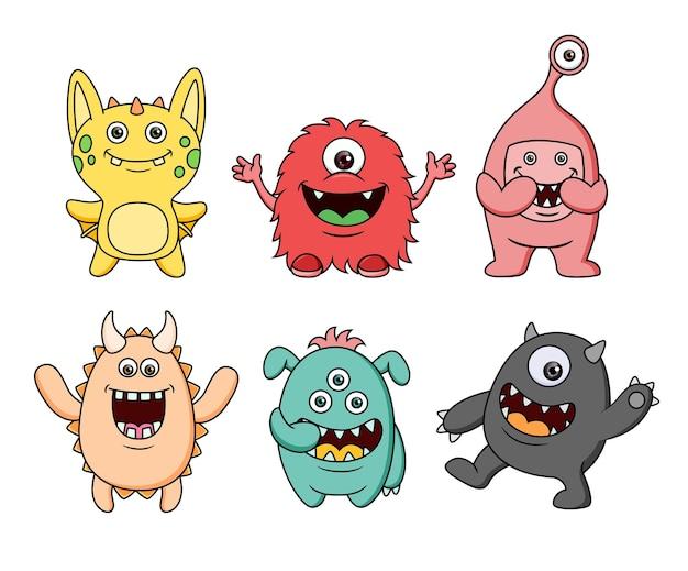 Коллекция милых персонажей-монстров
