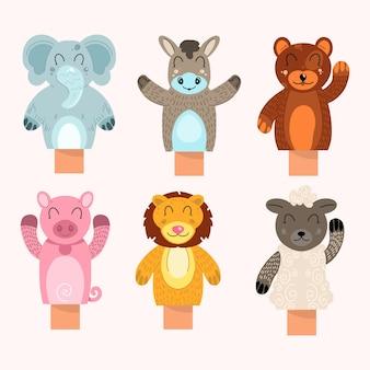 어린이를위한 귀여운 손 인형 컬렉션