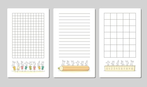 노트북 일기를 포장하기위한 카드 스티커 태그 템플릿에 대한 귀여운 메모 모음