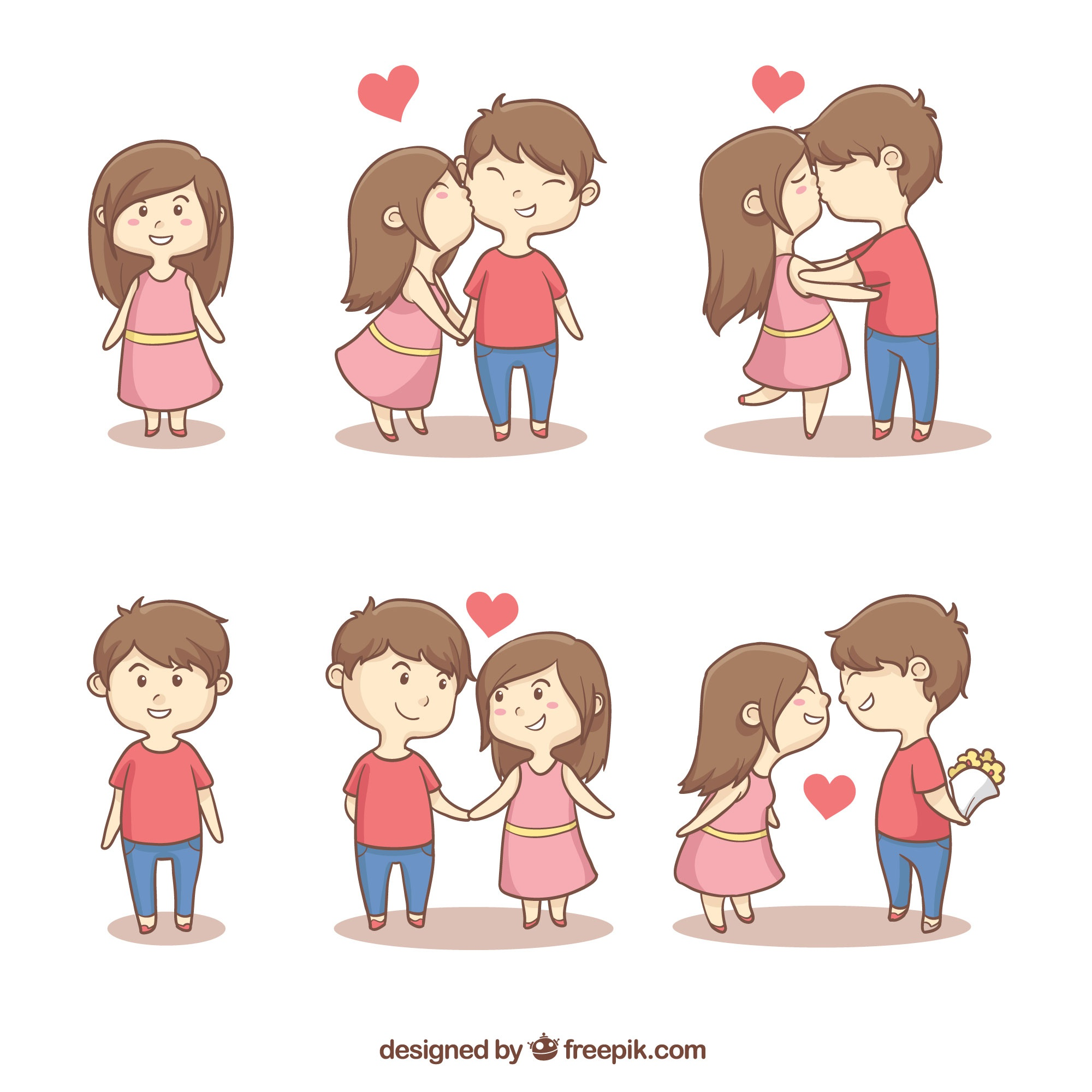 Collection of cute romantic couples