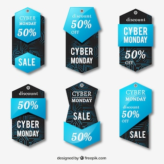 Collection of cyber monday stickers