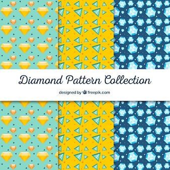 Коллекция декоративных узоров алмазов