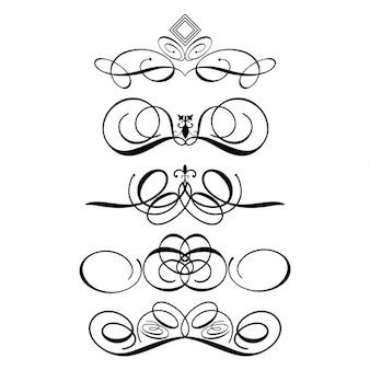 Коллекция декоративных украшений идеально подходит для использования разрывов страниц