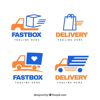 Collection of delivery logo templates