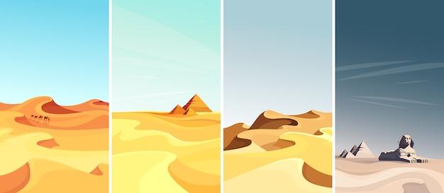 Коллекция пустынных пейзажей в вертикальной ориентации.