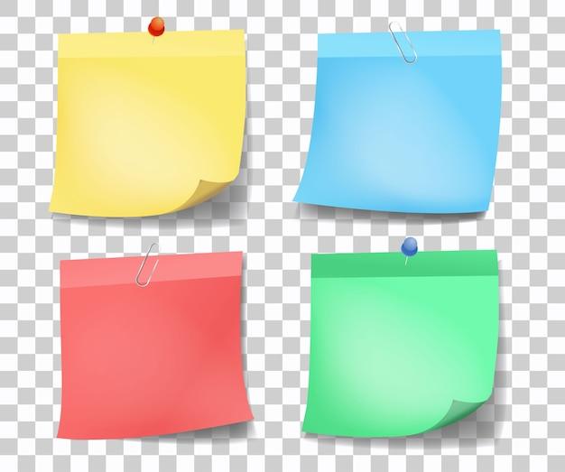 Коллекция различных цветных листов заметок