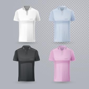 さまざまな編集可能なポロシャツのコレクション