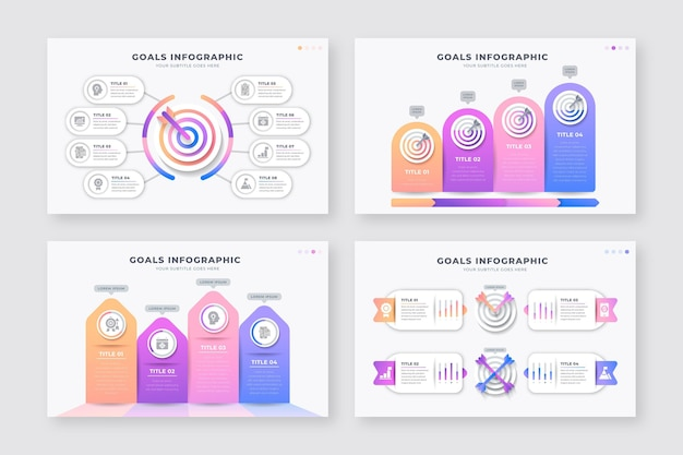 다른 목표 infographics의 컬렉션