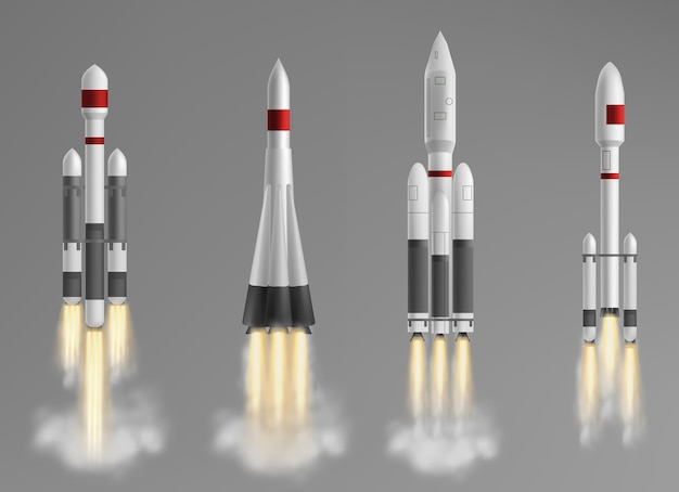 Коллекция различных ракетных кораблей