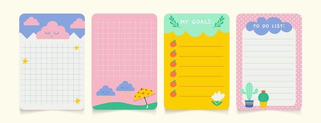 다른 스크랩북 메모 및 카드 모음