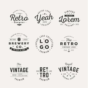 Коллекция различных старинных логотипов