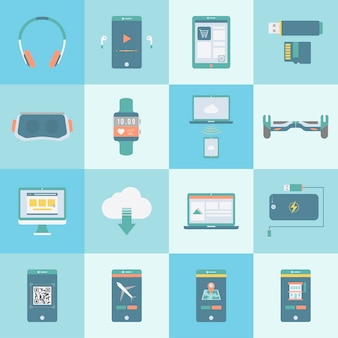 Collection of digital devices vectors
