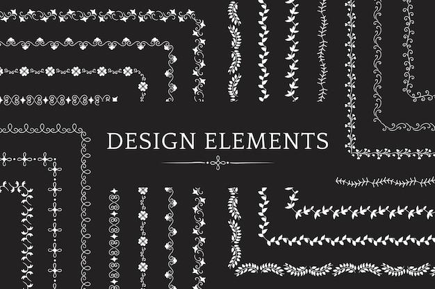 Коллекция векторов элементов дизайна разделителя