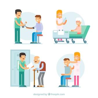 フラットなスタイルの患者さんの集まり