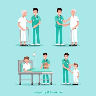 Сбор врачей с пациентами