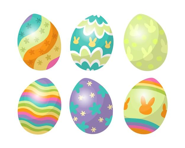 Коллекция пасхальных яиц, вектор окраски яиц