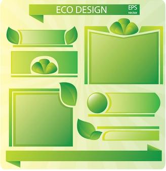 Коллекция знаков экологии - набор для дизайна