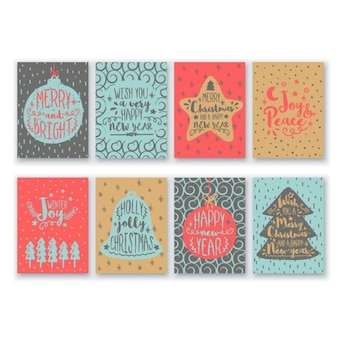 Collection of eight christmas cards