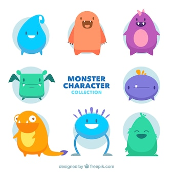 Collection of eight monsters