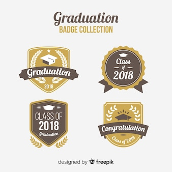 Collection of elegant graduation badges