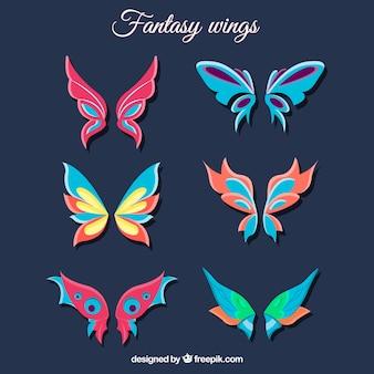 환상적인 나비 날개의 컬렉션