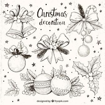 幻想的なクリスマスの装飾のコレクション