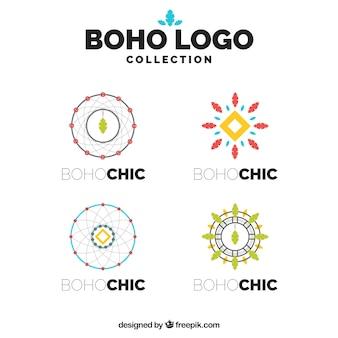 보헤미안 스타일의 환상적인 로고 컬렉션
