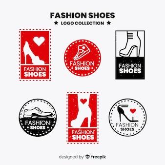 Коллекция модных логотипов обуви
