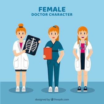 Коллекция персонажей женских докторов