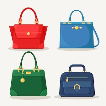 ショッピングのためのフェミニンなハンドバッグのコレクション