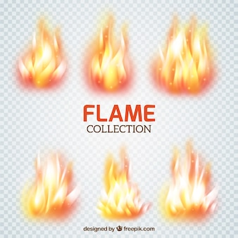 Collection of flame brushes
