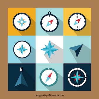 Коллекция плоского компаса