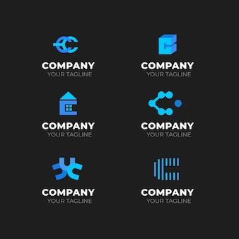 フラットなデザインのcロゴのコレクション