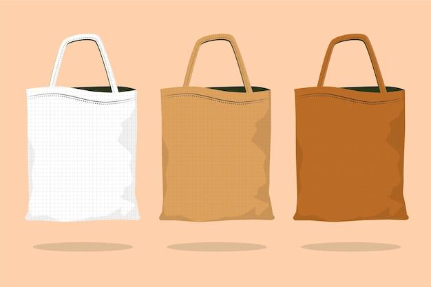평면 디자인 패브릭 가방 컬렉션