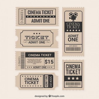 Коллекция плоского билета фильма