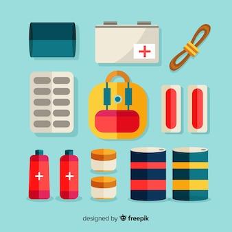 Коллекция плоских медицинских элементов