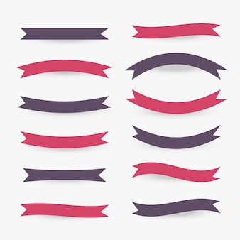 Collection of flat ribbons in various styles