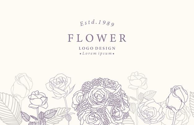 Коллекция цветочного фона с лавандой, розой.