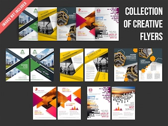 Collection of front and back page design of flyers.
