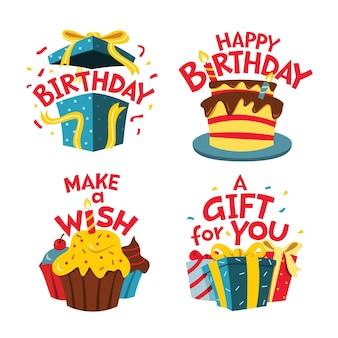재미있는 생일 스티커 모음
