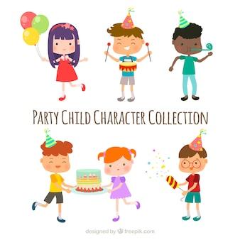 面白い子供のキャラクターのコレクション