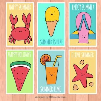 面白い夏のカードのコレクション