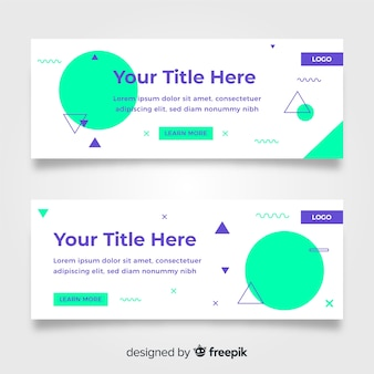 Collection of geometric banners